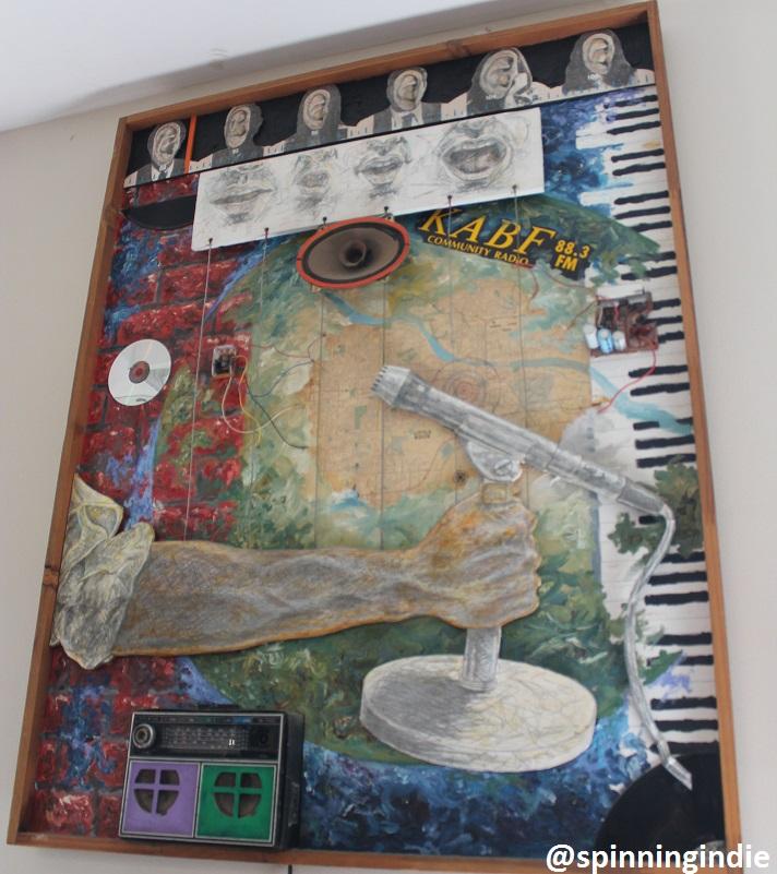 Artwork at community radio station KABF. Photo: J. Waits