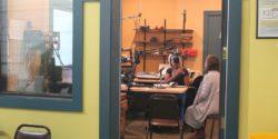 Studio at LPFM community radio station KLLG-LP. Photo: J. Waits/Radio Survivor