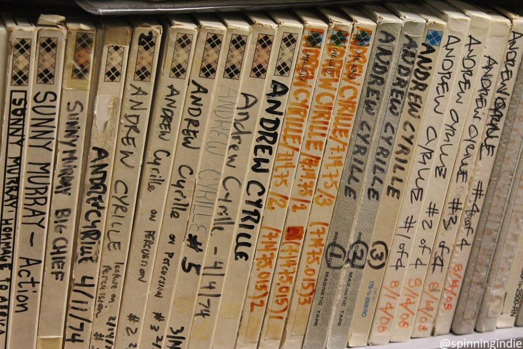 Reel-to-reel tapes at WKCR. Photo: J. Waits