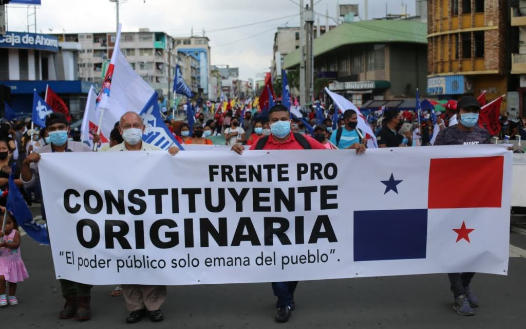 Panamá. Frente Pro Constituyente Originaria entrega nota al Tribunal Electoral