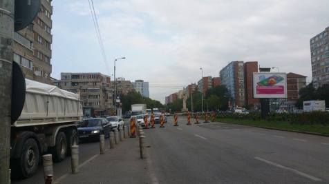 trafic ingreunat Calea Sagului lucrari mall Dermatina sept 2015 (11)