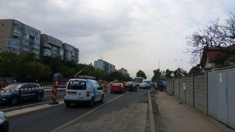 trafic ingreunat Calea Sagului lucrari mall Dermatina sept 2015 (12)