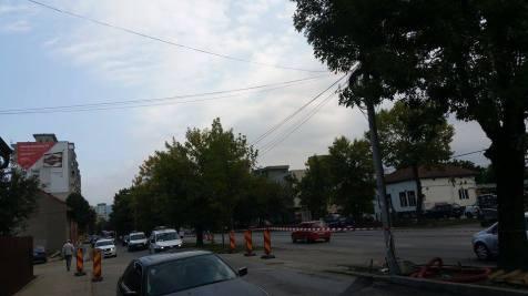 trafic ingreunat Calea Sagului lucrari mall Dermatina sept 2015 (2)