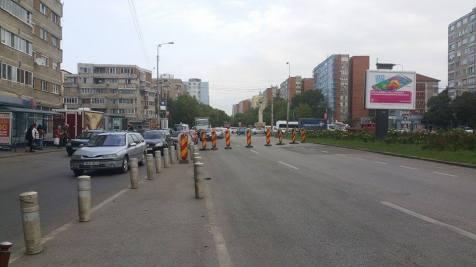 trafic ingreunat Calea Sagului lucrari mall Dermatina sept 2015 (6)