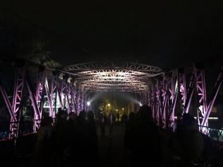 podul de fier iluminat Timisoara (2)