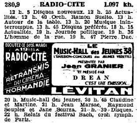 Programme Radio-Cité