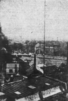 Antenne de Radio PTT Nord sur l'hôtel des Postes à Lille