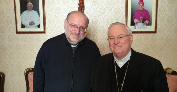 """Noto, il cardinale Bassetti, presidente della Cei incontra don Di Noto, fondatore e presidente di Meter: """"la Chiesa italiana è riconoscente a Meter. Stiamo dalla parte delle vittime"""""""