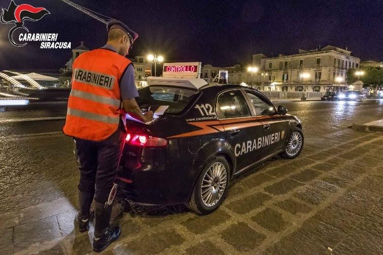 Siracusa, i carabinieri hanno effettuato controlli