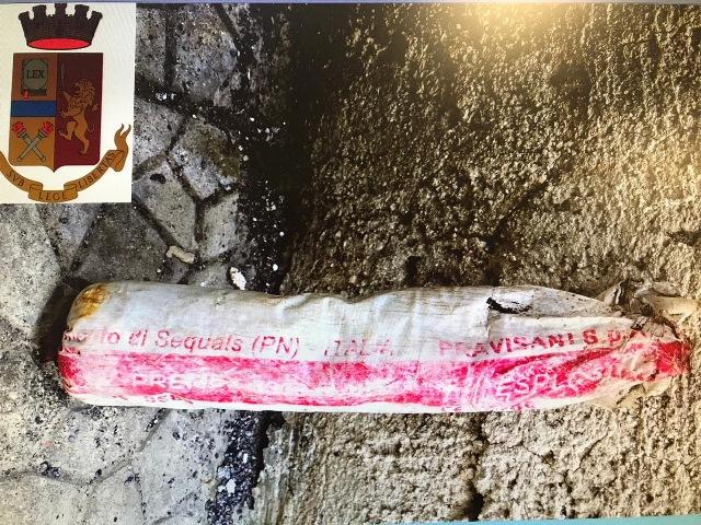 Lentini, gli agenti del commissariato hanno arrestato un uomo per detenzione illegale di esplosivo