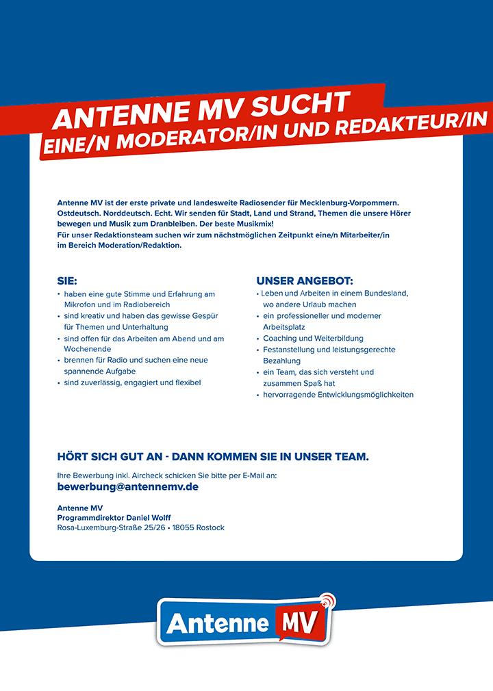 Antenne MV ist der erste private und landesweite Radiosender für Mecklenburg-Vorpommern.