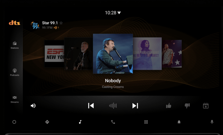 NAB Pilot's proposed infotainment display for Android Automotive