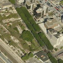 L'area dell'ex complesso dell'aeronautica