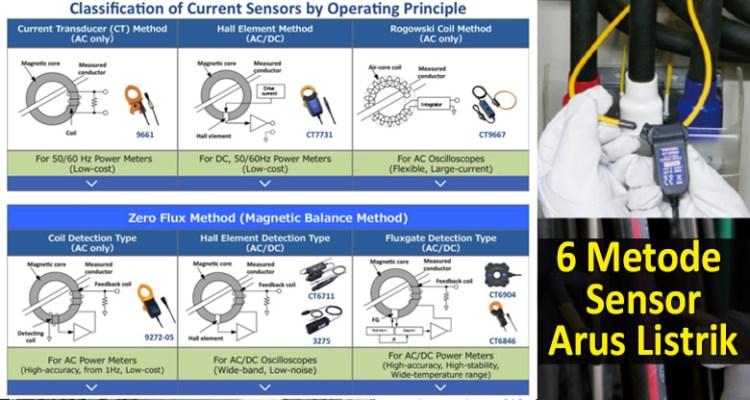 6 metode sensor arus listrik