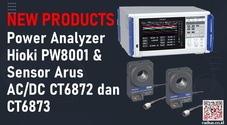 Power Analyzer Hioki PW8001 & Sensor Arus AC DC Hioki CT6872 dan Hioki CT6873
