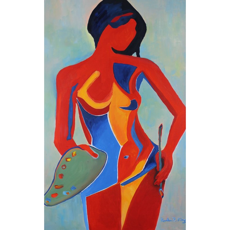 Contemporary Figure Painting Oil on canvas by Radka Zimova King