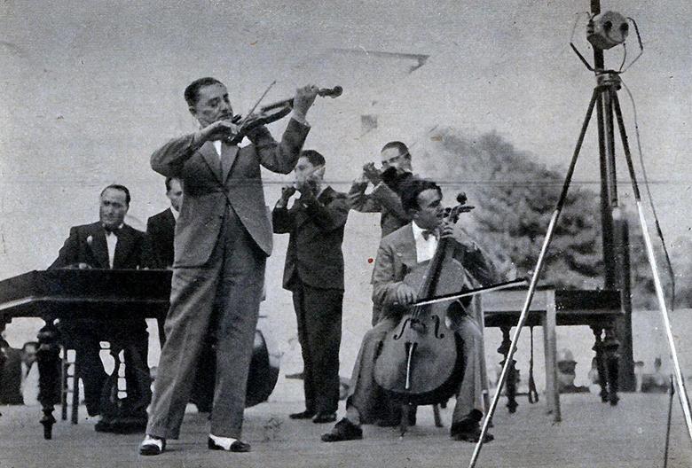 Taraful Grigoraş Dinicu la radio, 1935