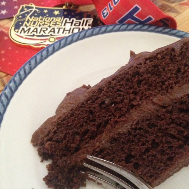 Chocolate Cake and Medal