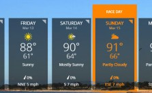 Weather Forecast for #LAMarathon