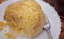 Ensaymada for merienda (Sweet brioche bread topped with cheese) @filipinofood #snack