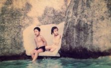 Happy birfday to my little bro @swayray! He kept me company on the slide cos the water was too deep :) #fbf [instagram]