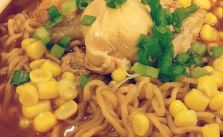 Instant ramen noodles + homemade broth & toppings = yum #supper [instagram]