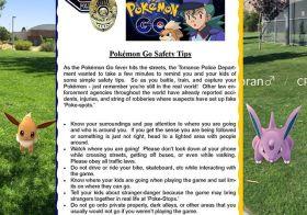 Pokémon Go safety tips :) Thanks to @torrancepolice @TorrancePD #stayaware #playsmart #pokemongo [instagram]