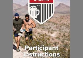 Look who's on the cover of #bloodsweatandbeers participant instructions! Go Coach @em_swen #desertdash #trailrunningvegas #dirtydouble #getsometrail #trailjunkie #beyondvegas #optoutside [instagram]