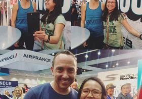 I probably sounded like a stalkerish-fangirl but I don't care! I got to #facebooklive w/ @karagoucher & bonus, got to tell @adamgoucher I was a 2x #RunTheYear participant. Awesome afternoon at #LAMarathon expo. #myLAmoment [instagram]
