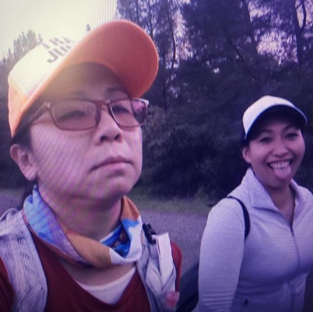 """#tbt As I continue to edit my AR50 """"Director's Cut"""" version, here's a teaser from the film. ~mile 48.75. With sis. I was hangry. #trailrunning #taur #ultramarathon #trailjunkie #ar50mile"""