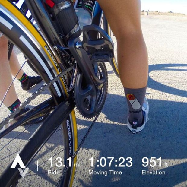 I rode today! lol. Many thanks to @lovestheocean2 for taking me on my 1st training ride of 2017. FYI: that's a burrito on my sock. 🤘🏽#hutchsbicyclegarage #triathlontraining #racewithbase #nuunlife #cycling #baseperformance #ragetriathlon #im703cda #training #triathlon #cramming #strava #stravacycling #stravapremium