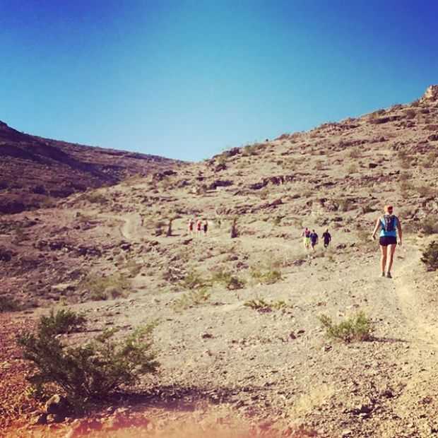 New trails, yummy potluck, mimosas & a fun time at the #trailjunkie ambassador party yesterday. Thanks @roberekson & @desertdashtrailraces for hosting! #trailrunning #trailrunningvegas #altrarunning #taur