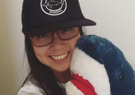 New hat selfie with Han the Shark 🦈 #savethesharks #stopsharkfinning [instagram]