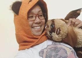 I'm dressed as an advocate for Ewok rights.  Happy Halloween! Or, Tuesday. #starwars [instagram]