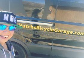 Don't be jelly. I got my @hutchsbicyclegarage swag & got to see the #hbg van! #hutchsbicyclegarage #hutchuritto #cycling #mtb #cx [instagram]