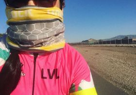 Getting our miles and having hills for breakfast! #cycling #lasvegaslasses #hshive [instagram]