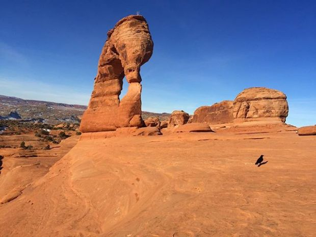 #tbt to my first ever visit to Arches Nat'l Park last Sunday. This was a different angle of the Delicate Arch.