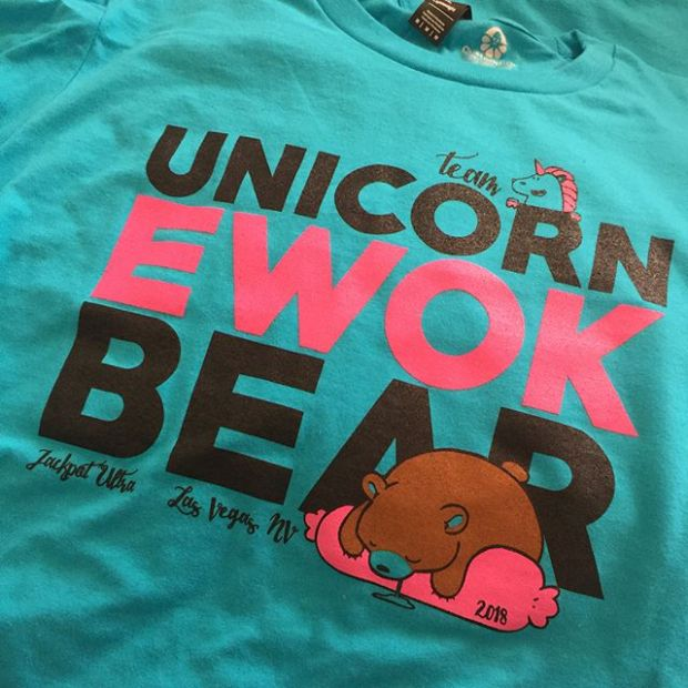 """T minus one week, two days, and 16 hours until Jackpot Ultra. Ahhhh! Also, my pacers & crew """"thank you"""" shirts have arrived. Printed via @customink 🏽"""