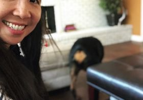 When you try to take a selfie with the pup but then he turns around lol. #heartbutt [instagram]