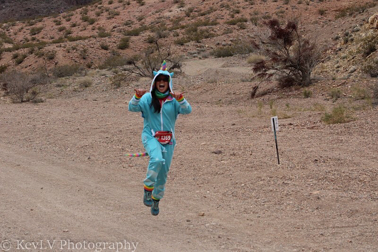 When your talented friend & teammate @kevlv spots you on the course! All. The. Unicorn. Photos. @kevlvphotography #trailjunkie #desertdash