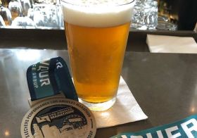 Angel City IPA and my 8th LA Marathon medal.  On a side note, my longest LA finish. That's what happens when you pace your big sis and she has not trained! lol [instagram]