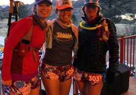 Waiting for the shuttle with these ladies… We matchy our drafty #boa shorts at #whiskeybasin57k [instagram]