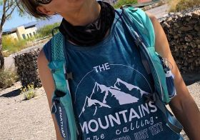 """I need to find Kendal's tank. It reads, """"The mountains are calling. I wish they'd just text""""  #trailjunkie #trailrunners [instagram]"""