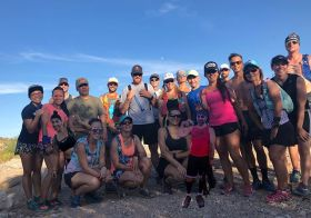 Monday nights are for trail running… and then some went to Bingo after  #trailrunningvegas..N.B. The people photoshopped missed the group photo  So we add them… [instagram]