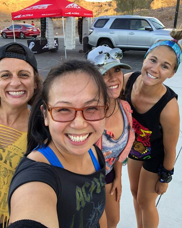 """It's been a while since I've ran the trails at McCullough! Driving to Hendo was worth it because of the Altra shoe demos! Add in the """"Rock n Roll"""" theme and we had ourselves a party on the trails 🤘🏽😎"""