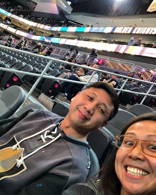 Knight out with my li'l bro. 🏽 #VegasBorn @vegasgoldenknights
