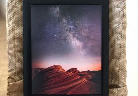 Valley of Fire.  My first @jdollabillings photograph! This photo of the photo doesn't do it justice  #nightphotography #nightexposure #beyondvegas #supportlocalartists [instagram]