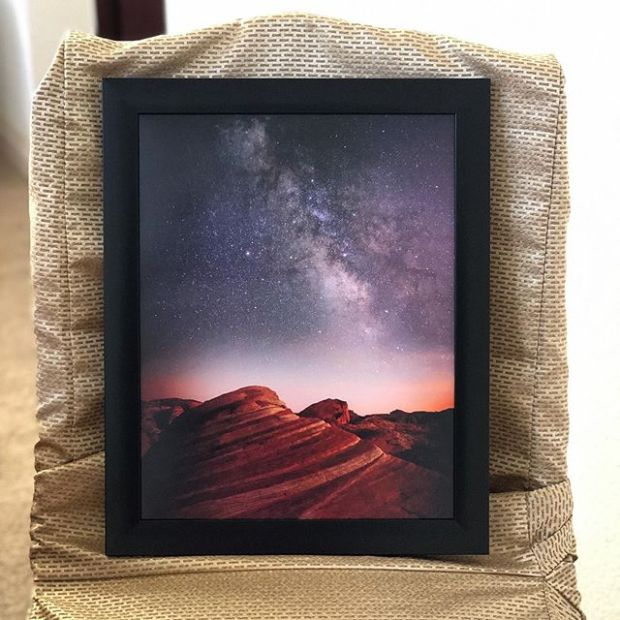 Valley of Fire.  My first @jdollabillings photograph! This photo of the photo doesn't do it justice  #nightphotography #nightexposure #beyondvegas #supportlocalartists