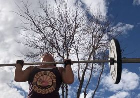 This was supposed to be a time-lapse of our workout, but the camera shifted slightly from our dropping barbells. 🤣 It's more fun to watch the clouds anyway. #timelapse #crossfit #metcon #crossfitgirls #womenwholift [instagram]