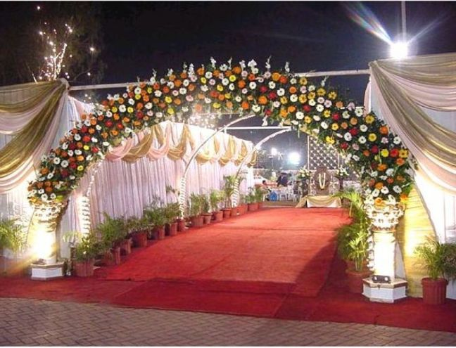 decorated wedding venue